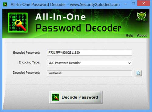 All-In-One Password Decoder : Free Tool to Recover Encoded Passwords