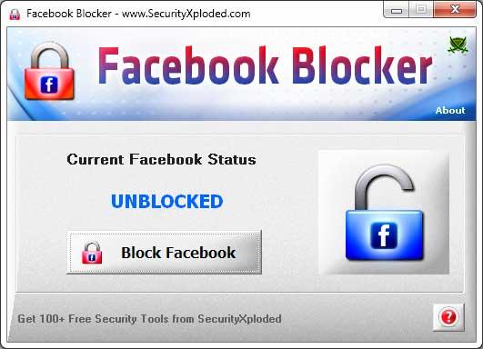 FacebookBlocker Screenshot