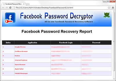 FacebookPasswordDecryptor