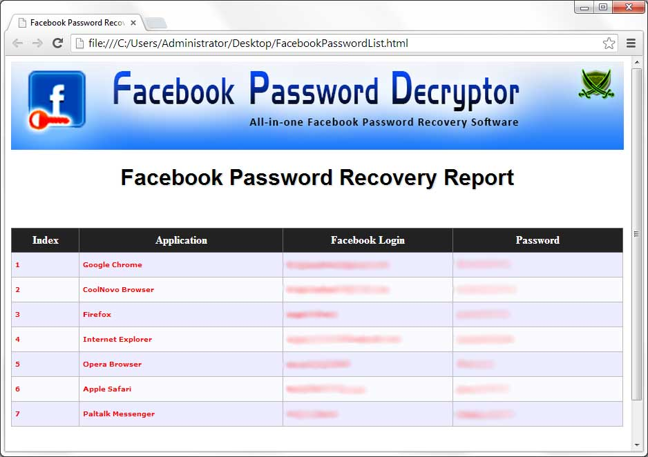 Facebook Password Recovery Software 2019 Edition Free Tool To Recover Lost Or Forgotten Facebook Password Www Securityxploded Com