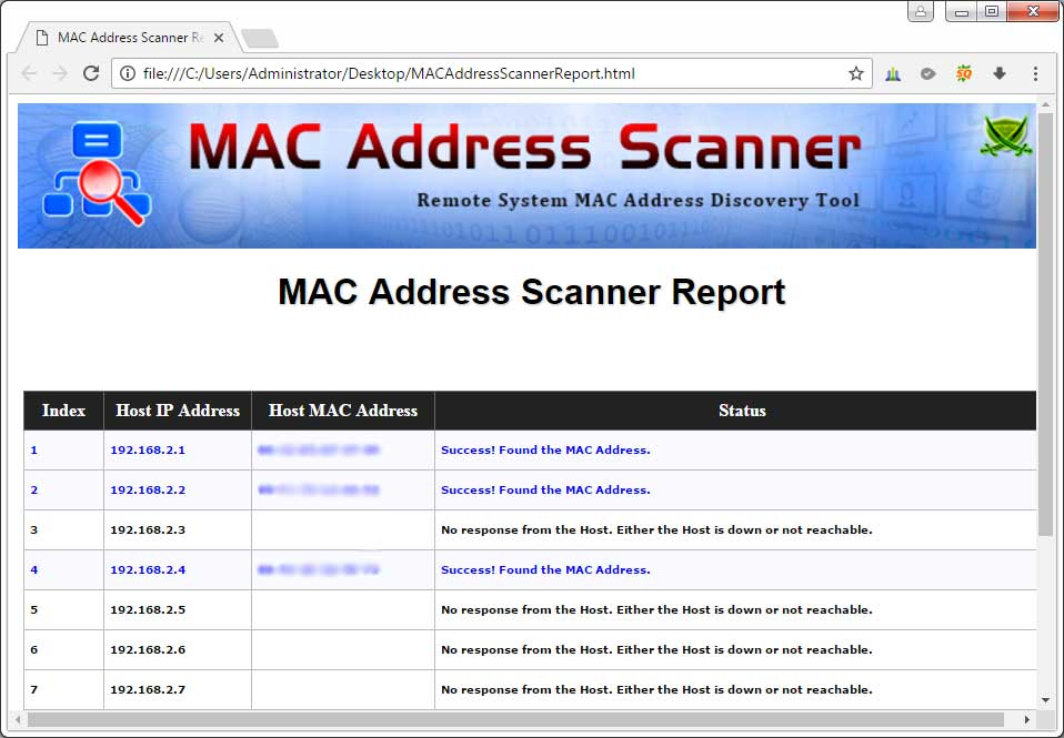 MAC Address Scanner : Free Desktop Tool to Find MAC address of