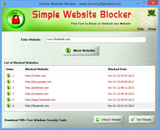 Simple Website Blocker - Free Tool to Block or Unblock any