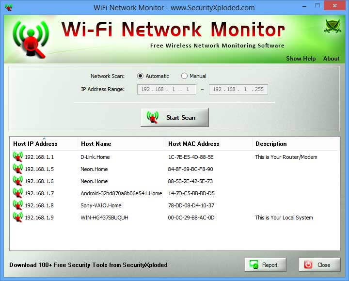 WiFi Network Monitor : Free Tool to Watch/Monitor your Wireless
