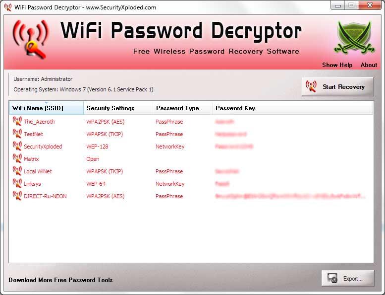 Free WiFi Password Decryptor - Instantly Recover Forgotten